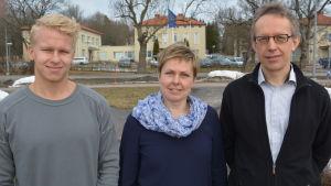 Tobias Björklund, Ann-Margareth Österås och Mats Nurmio.