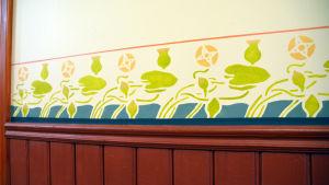Väggmålning i Lovisa huvudbibliotek