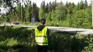 SRVA intill Larsmovägen i Jakobstad.