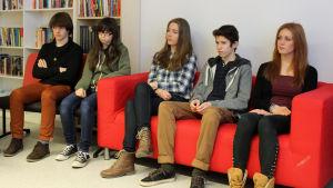 Spanska elever i Lovisanejdens högstadium.