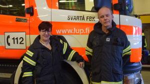 Satu Wikström och Tom Lundström