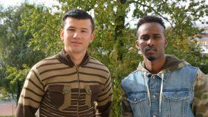 Abdullah Adan Sheik från Somalien och Murtaza Jafari från Afganistan