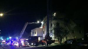 Eldsvåda på Hongaisvägen 35 i Hirvensalo i Åbo.