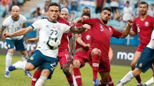 Argentina spelar mot Qatar i Copa America.