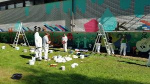 Graffiti målas