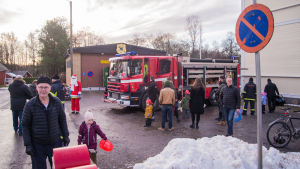 Besöksdag på en brandstation.