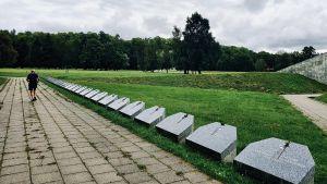 Minnesstenar med namnet på de ryska stridsenheter som erövrade Tallinn under andra världskriget.