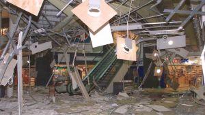Myyrmannis första våning efter explosionen