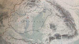 Gammal karta över Ungern.