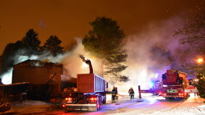 Brand på Andersasvägen i Borgå.