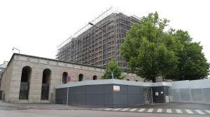 Riksdagshusets renovering i juli 2015.