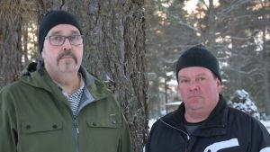 Fredrik Bengts och Tommy Svevar från Korsholms kyrkliga samfällighet.