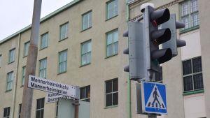 Gaturkorsning Brunnsgatan/Mannerheimgatan i Borgå