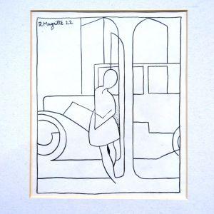 René Magritte: Teckningen till diktsamlingen Applications av Marcel Lecomte (1922)