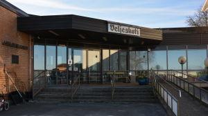 Ingången till Laitilan Veljeskoti och Terveyskoti.