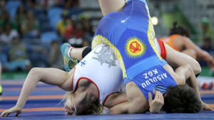 Petra Olli mot Aisuluu Tynybekova, OS 2016.