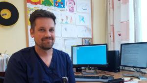 Barnläkare Matias Björn.