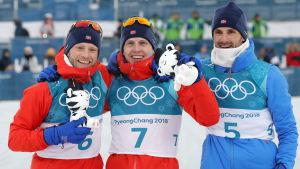 OS-skiathlon, norska palltrion.