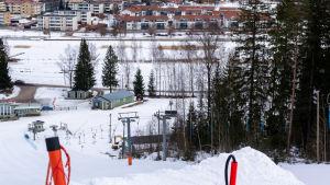 Utsikt över Borgå i vinterskrud från Kokonbacken.