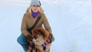 Jessica Suni och hunder Hertta.