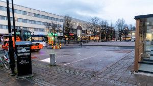 Obyggd del av torget av torget i Borgå.