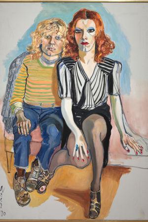 Porträtt av Jackie Curtis och Rita Redd