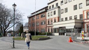 Gamla sjukhuset i Sarpsborg som kommunen köpt.