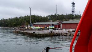 Hamnen vid Emsalö lotsstation