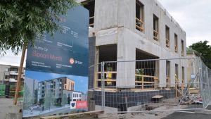 byggskede ett av östnylands andelsbanks projekt i nickby 2016