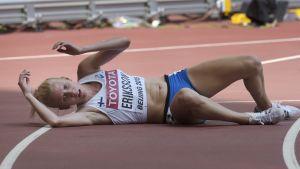 Sandra Eriksson har gjort sitt i Peking.