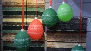 Dekorerade ballonger i Strömsövillans sal