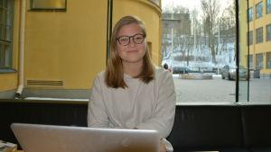 Matilda Holmström i ASA-huset.