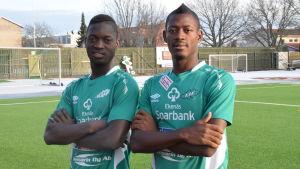 Porträttbild på Mohammed Doumbia och Joel Konan Akpini.