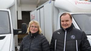 Yvonne Wentjärvi-Granlund och Petri Kuivamäki på Piccolo i Vasa.