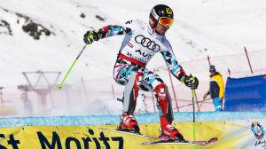 Marcel Hirscher tävlar i lagtävlingen under VM i St. Moritz.