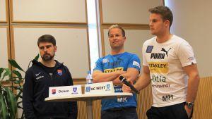 Pressträff inför semifinalerna, 18.4.2016