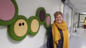 Serviceområdeschef Heidi Pettersson på MÖCS barnavdelning.