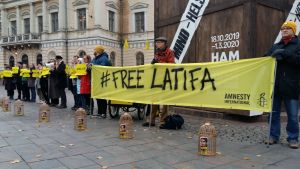 demonstration för Latifa Al Maktoum