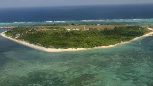 Ön Pagasa är en av de omstridda öarna på Spratlyöarna som flera länder gör anspråk på