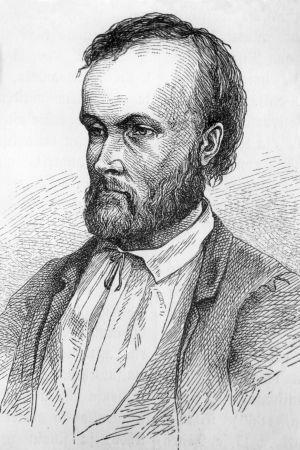 Albert Edelfeltin tekemä piirustus Aleksis Kivestä.