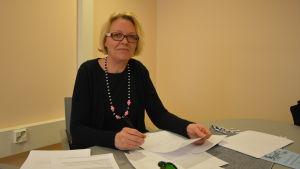 Nadja Suomela, chef för socialarbetet på Vasa stad.