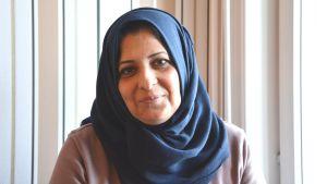 Wafa Abbas Hasan vid nödboendet i Nagu
