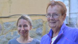Fredagssnackarna Mikaela Sonck och Lena Selén.