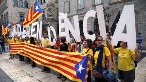 Demonstration för katalansk självständighet.