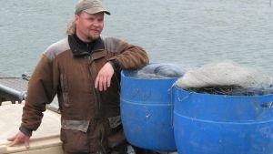 Bo-Erik Rosin är yrkesfiskare på Nagu Aspholm
