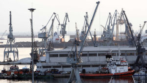 Hamnen i Thessaloniki.