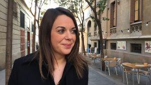 Väljaren Laura Ballarín i Barcelona.