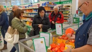Valio-ostar med rysk text säljs i Villmanstrand