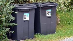 Flerfackskärl för sortering av sopor