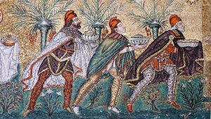 Mosaik av de tre vise männen.